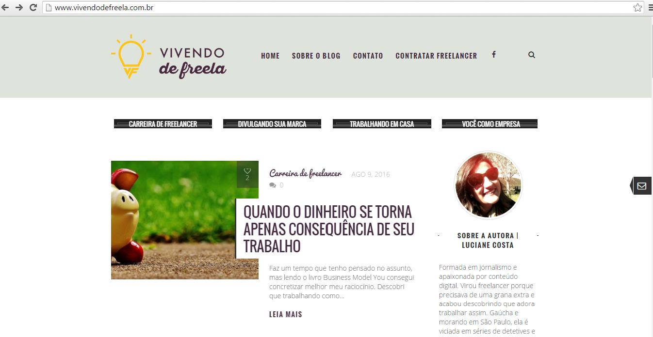 Site VivendoFreela